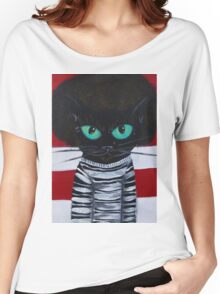 OutKast Atlanta black cat hip hop Women's Relaxed Fit T-Shirt