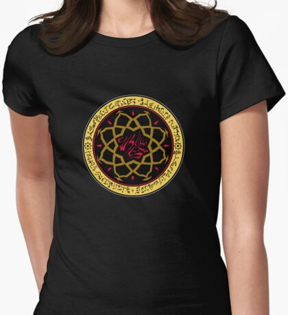 Dark Ages Clan Shield: Assamite Womens Fitted T-Shirt