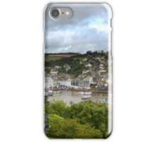 """ Passing Storm, Mevagissey Harbour "" iPhone Case/Skin"