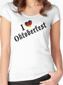 I Love Oktoberfest Women's Fitted Scoop T-Shirt