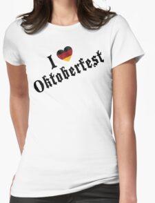 I Love Oktoberfest Womens Fitted T-Shirt