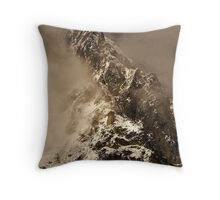 Cold Slopes Throw Pillow