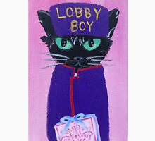 Anderson Lobby Boy black cat Pastry hotel Budapest Unisex T-Shirt