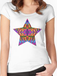 Time is but a psychedelic ripple in the fabric of existence Women's Fitted Scoop T-Shirt