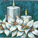 White Candles by Pamela Plante