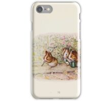 Cecily Parsley's Nursery Rhymes Beatrix Potter 1922 0053 Guinnea Pigs We Have a Little Garden iPhone Case/Skin