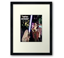 Make a Geek mad ! Framed Print