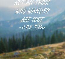 Not all those who wander by artesonraju