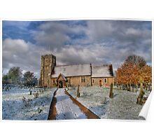 St Margarets Church Ridge Hertfordshire Poster
