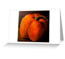 Orange Pepper Greeting Card