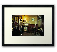 Basic English pub in the 1980's Framed Print