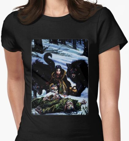 Dark Ages Cover Art: Werewolf: The Dark Ages Womens Fitted T-Shirt