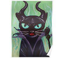 Maleficent witch raven black cat villain  Poster