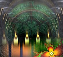 Christmas Fractal Candle Collage by Heleen Hekkenberg