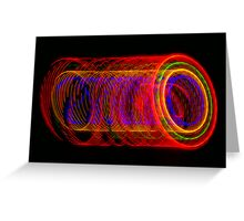 Tubular Light  Greeting Card