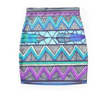 Two Feathers (color version three)  Mini Skirt