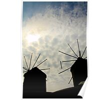 Contre-Jour Windmills Poster