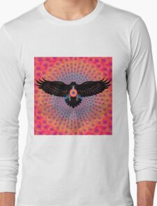Psychedelic Raven Brings Light Long Sleeve T-Shirt