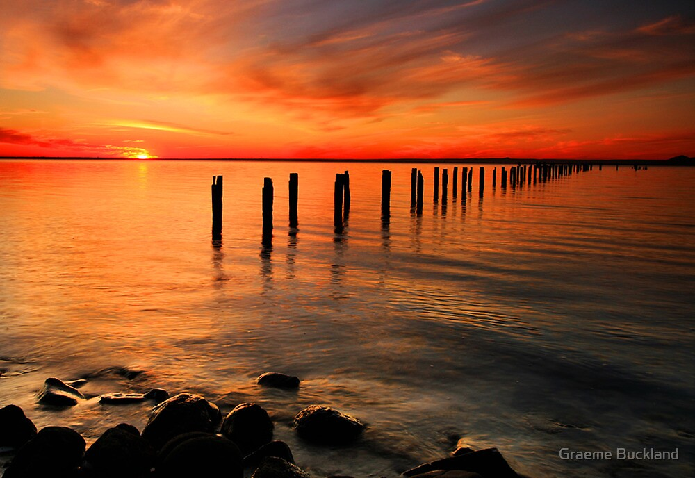 Clifton Springs Sunset - Clifton Springs Victoria by Graeme Buckland