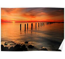 Clifton Springs Sunset - Clifton Springs Victoria Poster