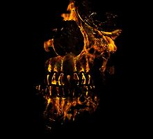 Skull Burning by DFLC Prints