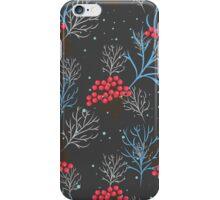 Rowan berry dark winter design iPhone Case/Skin