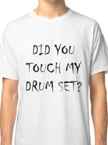 Drum Set Black Classic T-Shirt