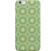 Abstract Sunflowers on Mint iPhone Case/Skin