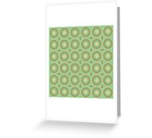 Abstract Sunflowers on Mint Greeting Card