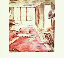 The Tailor of Gloucester Beatrix Potter 1903 0081 Cat and Tailor at Work by wetdryvac