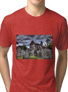 Monastery ruins at Greyabbey. Tri-blend T-Shirt