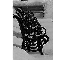 Freezing Benches Photographic Print