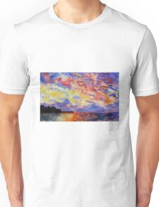 Lake Sunrise Watercolour Painting Unisex T-Shirt