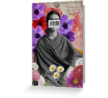 Public Figures Collection -- Frida by Elo Greeting Card