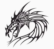 Tribal dragon totem by Smaragdas