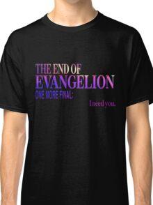 End of Evangelion Glitch Classic T-Shirt