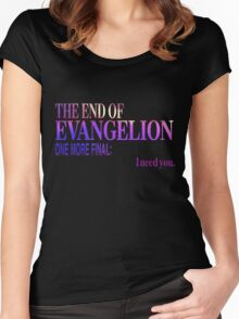 End of Evangelion Glitch Women's Fitted Scoop T-Shirt