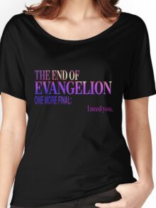 End of Evangelion Glitch Women's Relaxed Fit T-Shirt