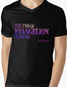 End of Evangelion Glitch Mens V-Neck T-Shirt