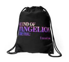 End of Evangelion Glitch Drawstring Bag