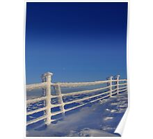 Iced Fence & Moon Poster