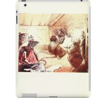 The Tailor of Gloucester Beatrix Potter 1903 0072 Mice at Candle iPad Case/Skin