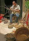 Making Baskets - Lecce, Italy by Debbie Pinard