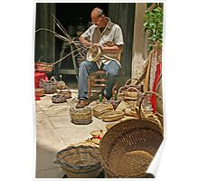 Making Baskets - Lecce, Italy Poster