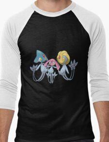 azelf uxie and mespritt  Men's Baseball ¾ T-Shirt