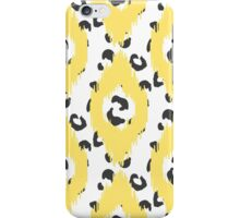 Yellow Ikat and leopard skin iPhone Case/Skin