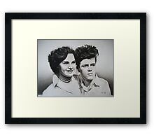 Jean & Jimmy Framed Print