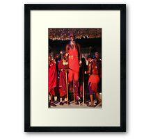 Samburu dancer, KENYA Framed Print