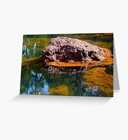 Rock In Water Greeting Card