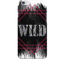 Wild- snake word on black texture iPhone Case/Skin